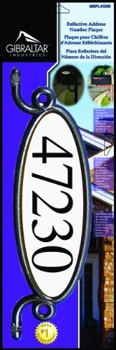 Gibraltar MBPLAQ0B Reflective Address Number Plaque, Black (Mailbox Number Plate compare prices)