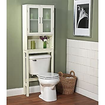Luxury This Frosted Pane Space Saver Over Toilet Slim Cabinet Is Great for Smaller Bathrooms Use