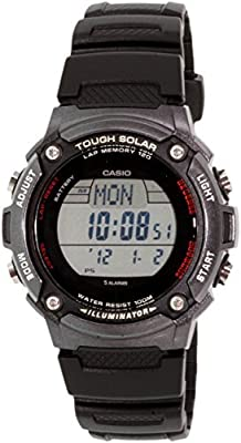 """Casio Men's WS200H-1BVCF """"Tough Solar"""" Sport Watch with Black Resin Band by Casio"""