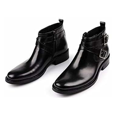 Amazon.com: Jazz Black Brown Mens Dress Ankle Boots Shoes