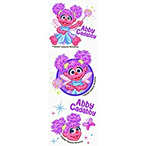 Sesame Street Abby Cadabby Kids Temporary Tattoos