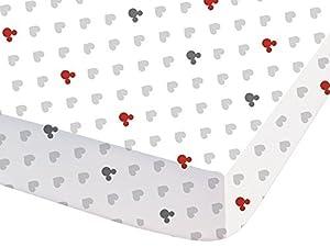 CTI 041861 - Sábana bajera (140 x 190 cm), diseño de Mickey Mouse, color blanco y gris   Comentarios de clientes y más información