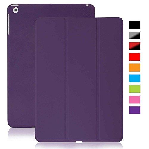 KHOMO Coque Apple iPad 2, 3, 4 Retina - Etui Housse Trés Fin et Leger avec Rabat Magnétique et Mise en Veille Automatique iPad 4 - Violette