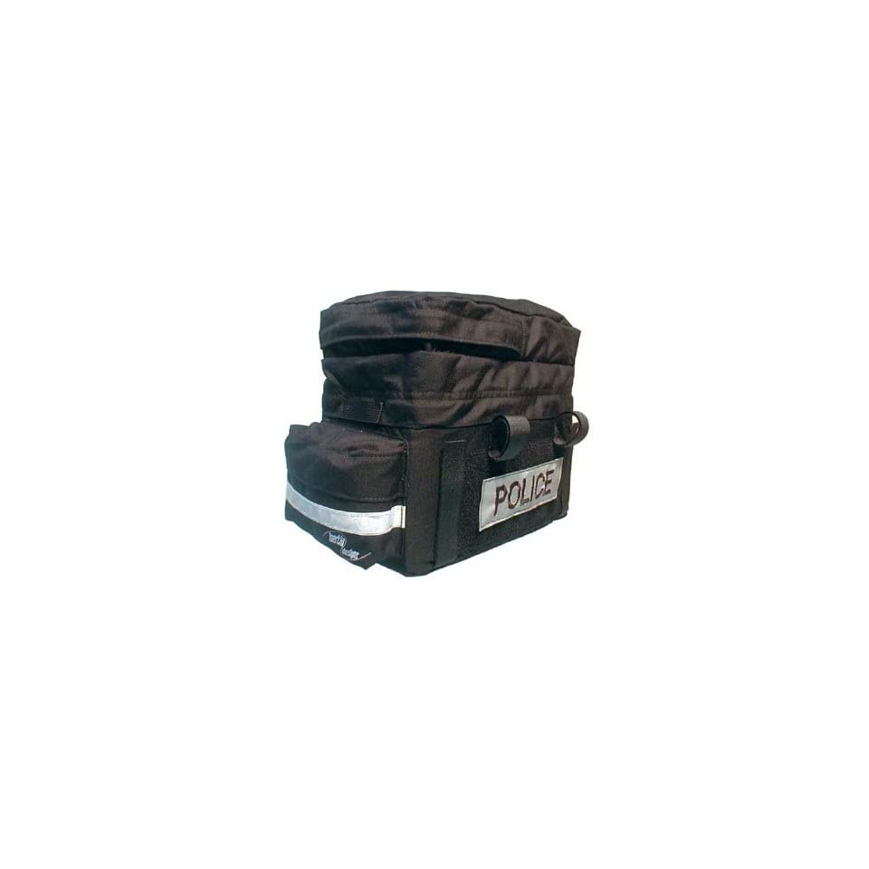 Inertia Police Bicycle Trunk Bag with Velcro Patches Black