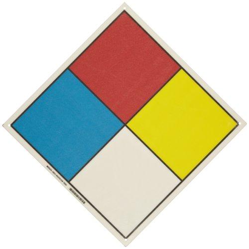 "Hazardous Material Diamond: Brady 58510 16"" Square, Black, B-120 Premium Fiberglass"