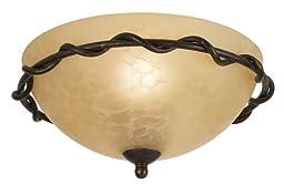 Italian Bronze Pull-Chain Ceiling Fan Light Kit