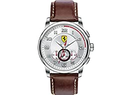 Ferrari Men\'s 830058 Analog Display Japanese Quartz Brown Watch