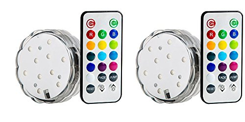 Lily'S Home Multicolor Led Submersible Party Light With Remote Control. Great For Wedding Centerpiece, Christmas, Party Lights. Set Of 2