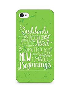 AMEZ start something new and the magic begins Back Cover For Apple iPhone 4s
