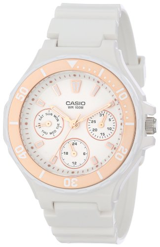 Casio Womens LRW250H-9A2 Rose Gold Bezel Watch