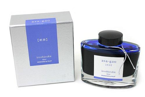 Pilot Iroshizuku Fountain Pen Ink - 50 ml Bottle - Asa-gao Morning Glory (Vivid Purplish Blue) (japan import)