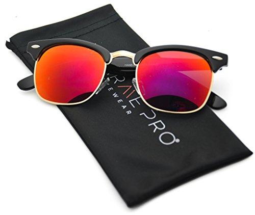 WearMe-Pro-Clubmaster-Style-Sunglasses-Retro-Mirror-Lens-Sunglasses