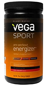 Vega Sport Pre-Workout Energizer, Acai Berry, 19 Ounce