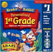 BRAND NEW Learning Company Reader Rabbit Personalized 1st Grade Dlx 2cd Jc Abilities Spelling Phonics