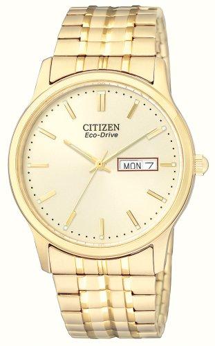 Citizen Men's Eco-Drive Flexible Band Gold-Tone Watch #BM8452-99P
