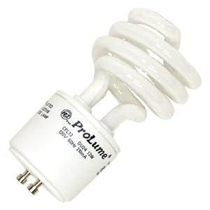 Halco 46527 - 13 Watt GU24 Base Spiral Compact Fluorescent Light Bulb, 60 Watt Incandescent Equivalent, 5000K