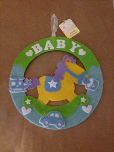 "Baby Wreath 12"" Round (Made of Felt)"