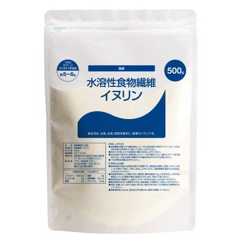 nichiei 国産 水溶性 食物繊維 イヌリン 500g 10ccスプーン付 UB
