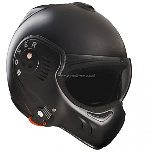Casque mudulable Roof Boxer V8 Full Black - XL - -