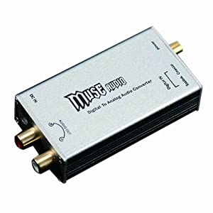 MUSE 24Bit/192Khz Digital Optical Coaxial to Analog RCA Audio Converter DAC - Sliver