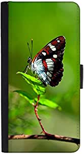Snoogg Butterfly In Green Leaf Designer Protective Phone Flip Back Case Cover For Lenovo Vibe K4 Note