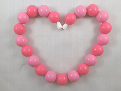 Baby Teething Necklace (Pretty-In-Pink)-Made With 100% Food Grade Silicone Teething Beads. Bpa Free Chewable Jewelry For Teething Babies & Kids To Wear. Mom Approved Teether Toy To Soothe Babies Gums. Lifetime Replacement Guarantee!