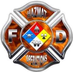 Inferno Hazmat Operations Maltese Cross Decal - 24