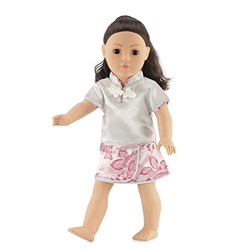 "18 Inch Doll Clothes - Asian Skirt Set Fits American Girl Doll and Other 18"" Dolls"