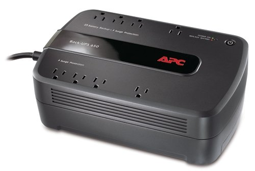 APC Battery Backup & Surge Protector (BE650G1) - 650VA 8-outlet Uninterruptible Power Supply (UPS) (Apc Power Unit compare prices)