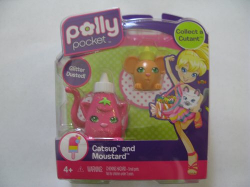 Buy Low Price Mattel Polly Pocket Collect A Cutant Catsup and Moustard Figure (B004CMOT0E)