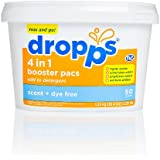 Dropps 4-in-1 Booster Pacs, Scent + Dye Free, 50 Loads