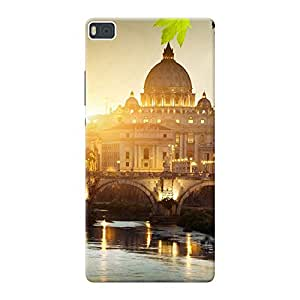 Mobile Back Cover For Huawei Ascend P8 (Printed Designer Case)