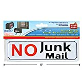 No Junk Mail Sign - 2.5 Inch x 8 Inch