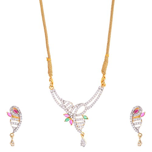Bharat Sales Gold Plated Multi Alloy Necklace Set For Women - B00YPASS96