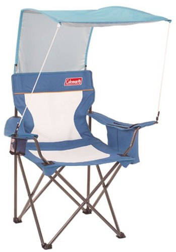 Coleman XL Mesh Quad Chair with SunShade and Cooler (Niagara/Arctic)
