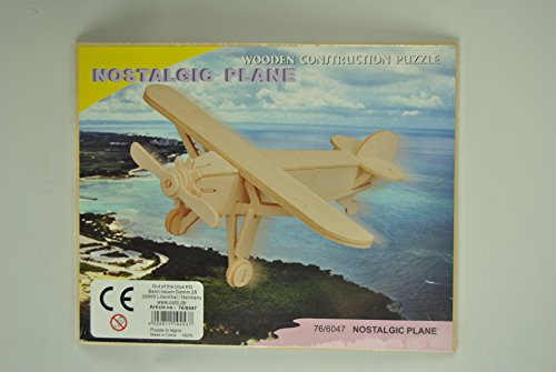 2 x Wooden Model Construction Nostalgic Plane and Eurofighter Plane Build Make your own