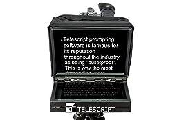TELESCRIPT Teleprompter Fold & Go System with Telescript Tech Software (AMA150F-SDI)