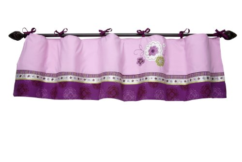 Nojo Window Valance, Pretty In Purple