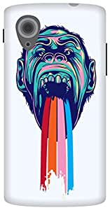 The Racoon Lean printed designer hard back mobile phone case cover for LG Nexus 5. (Tripping C)