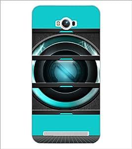PrintDhaba Speaker D-3493 Back Case Cover for ASUS ZENFONE MAX ZC550KL (Multi-Coloured)