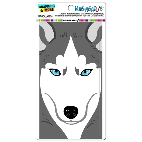 Graphics And More Siberian Husky Dog Pet Full Face Mag-Neato'S Automotive Car Refrigerator Locker Vinyl Magnet front-573239
