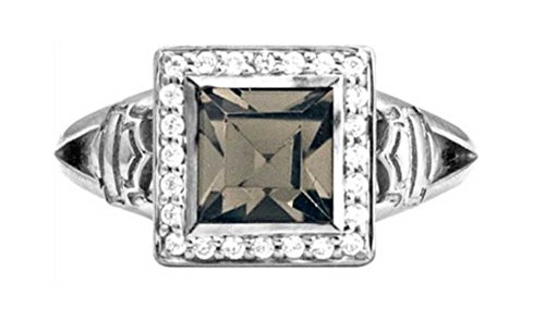 Harley-Davidson Women's Ring, Black Ice Crystal Outline Bling Ring HDR0362 (6)