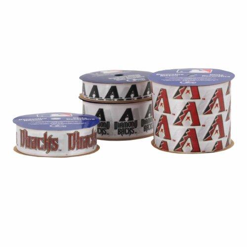 Offray 4-Pack Mlb Arizona Diamondbacks Ribbon, White/Purple/Red