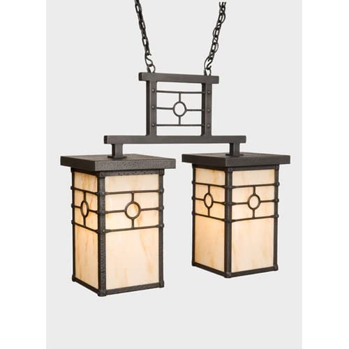 Steel Partners Lighting 3852-DBL Anacosti Light Historic California Double 100 Wattage, Old Iron Finish Khaki deal 2015