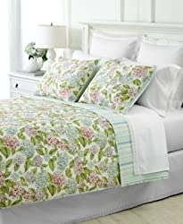 "Martha Stewart Collection ""Hydrangea Blossom"" Quilt Set, Twin Bedding"