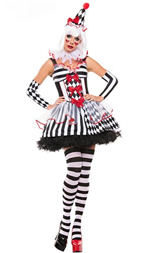 NonEcho Sexy Costumes Novelty Clown Halloween Outfit for Women