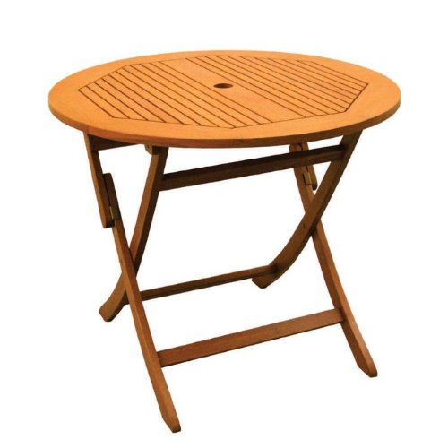 Royal Tahiti Outdoor Furniture: 36-Inch Round Folding Table