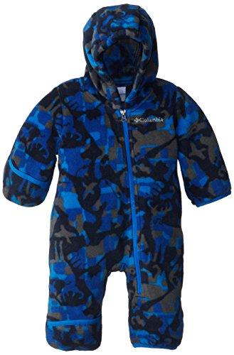 Columbia Baby Boys' Newborn Snowtop Ii Bunting, Hyper Blue/Critter Camo, 3/6