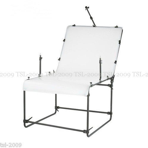 EssentialPhoto 100cm x 200cm STUDIO SHOOTING TABLE with light holder Product Photo Still Life Table