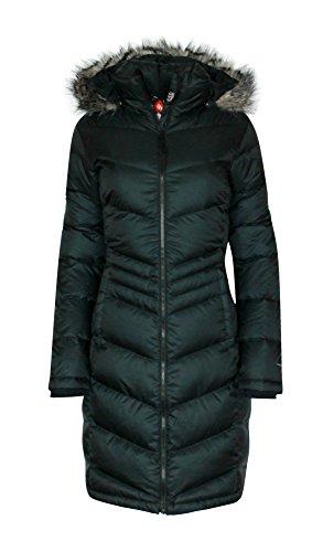 Columbia Womens Polar Freeze Long Down Jacket Omni Heat BLACK Winter Coat (medium)